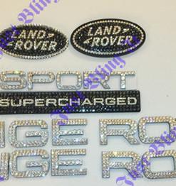 set of range rover emblem and supercharge