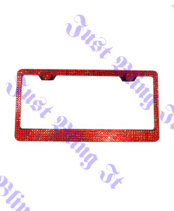 5 rows Red license plate frame 2
