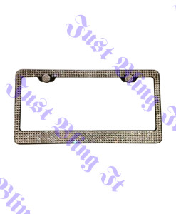 5 Rows Crystal License Plate Frame