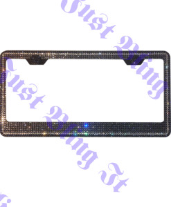 7 Rows Crystal License Plate Frame