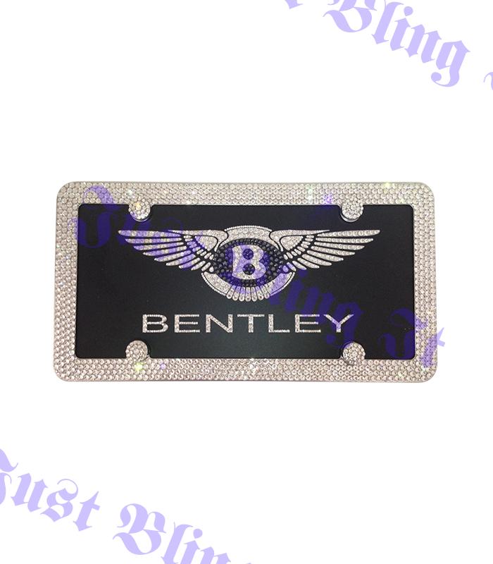 bentley front license plate just bling it lv. Black Bedroom Furniture Sets. Home Design Ideas