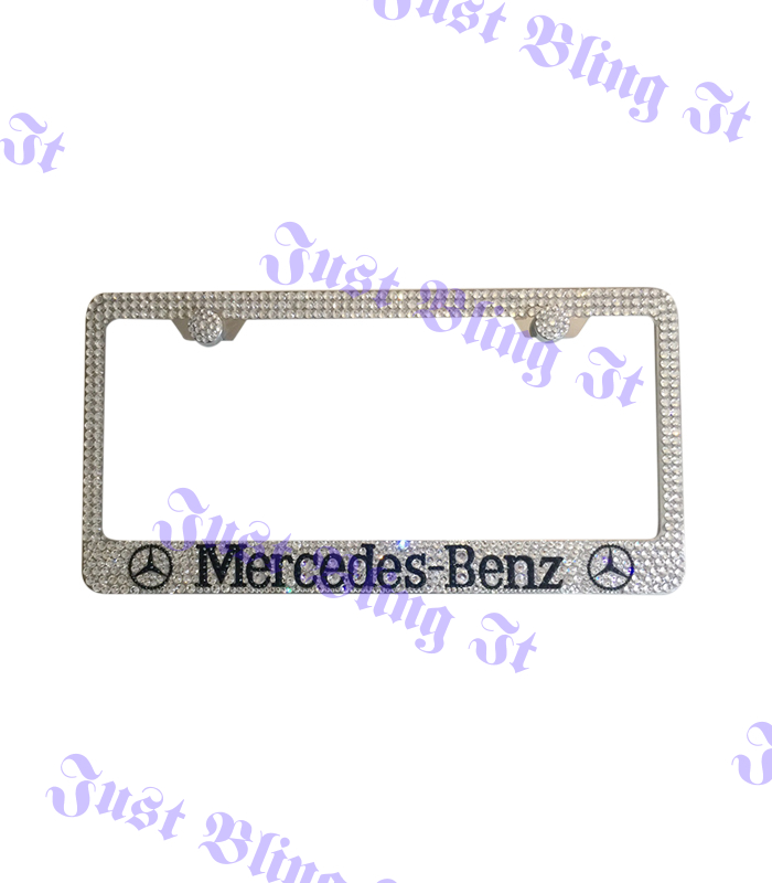 Mercedes benz w logo stainless steel license plate frame for Mercedes benz license plate logo
