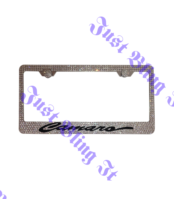 Chevrolet Camaro Stainless Steel license plate frame With Swarovski ...