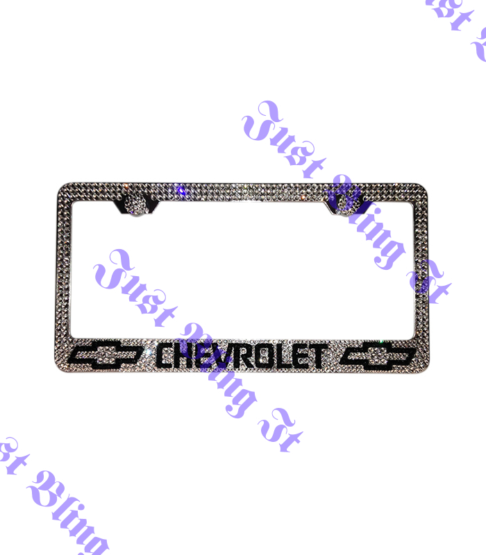 Chevrolet Stainless Steel license plate frame With Swarovski ...