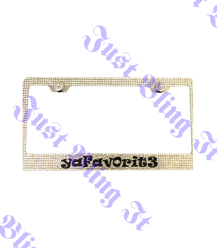 Custom Crystal License Plate Frame | Just Bling It LV