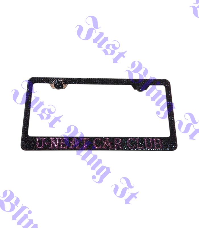 Custom Crystal License Plate Frame | Just Bling It LV